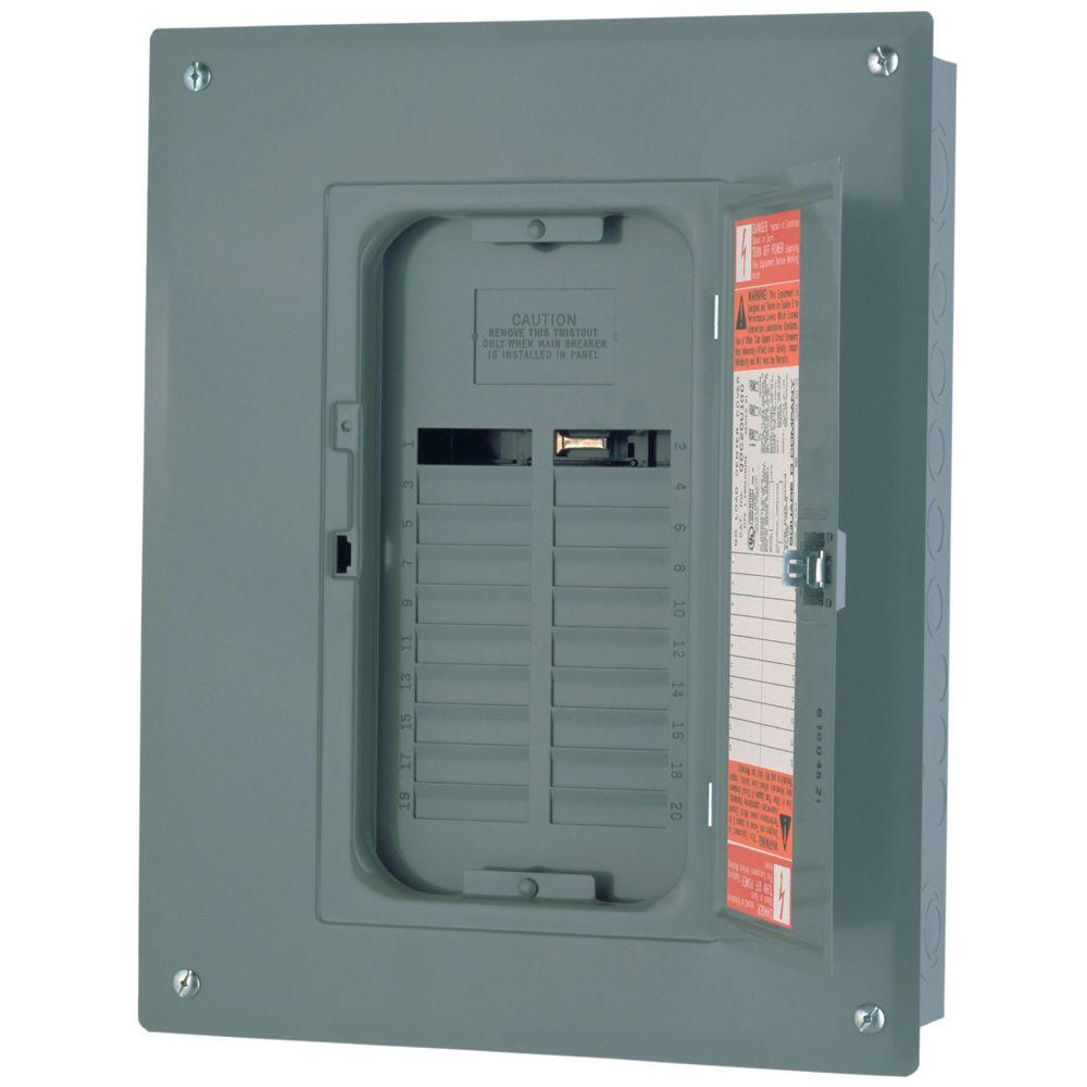 Square D Qo 125 Amp 20 Space Circuit Indoor Main Lug Load Center Subpanels Absolute Electric