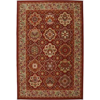 Copperhill Madder Brown 3 ft. 6 in. x 5 ft. 6 in. Accent Rug