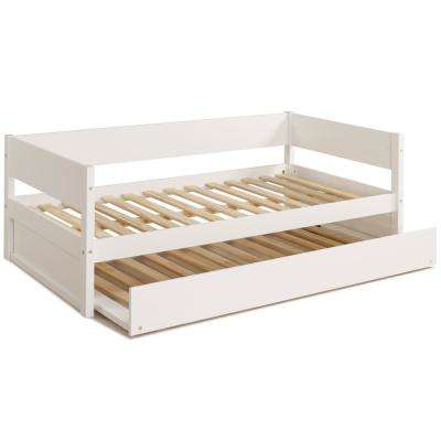 Concord White Twin Size Daybed with Trundle