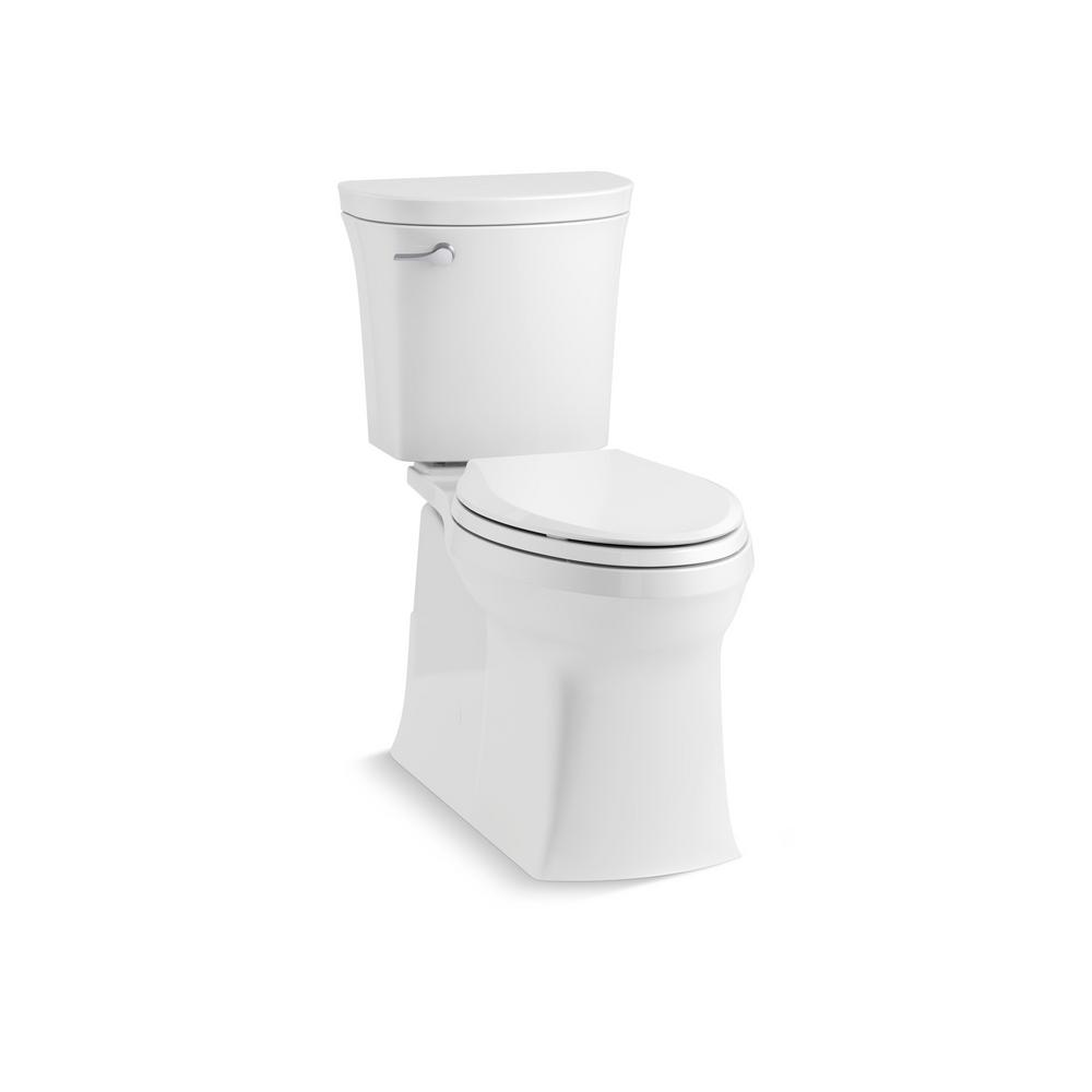 KOHLER Valiant the Complete Solution 2-piece 1.28 GPF Single-Flush Elongated Toilet in White, Seat Included (3-Pack)