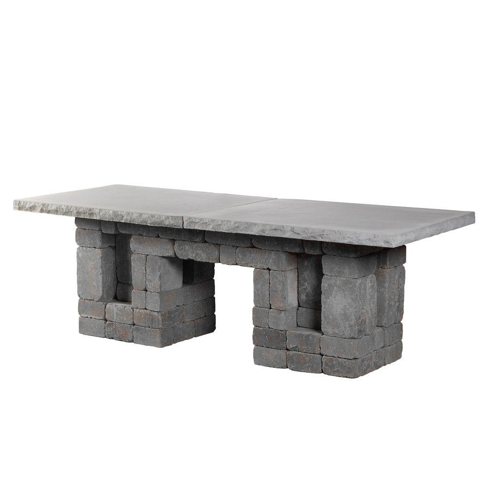 Good Necessories Bluestone Rectangle Patio Dining Table