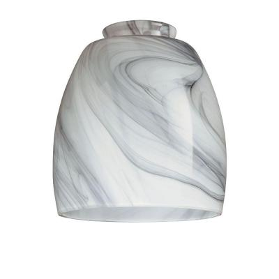 5-1/4 in. Hand-blown Charcoal Swirl Shade with 2-1/4 in. Fitter and 4-6/7 in. Width