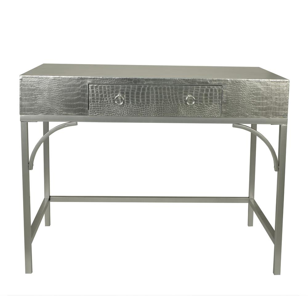 Decor Therapy Dundee Silver Writing Console Desk