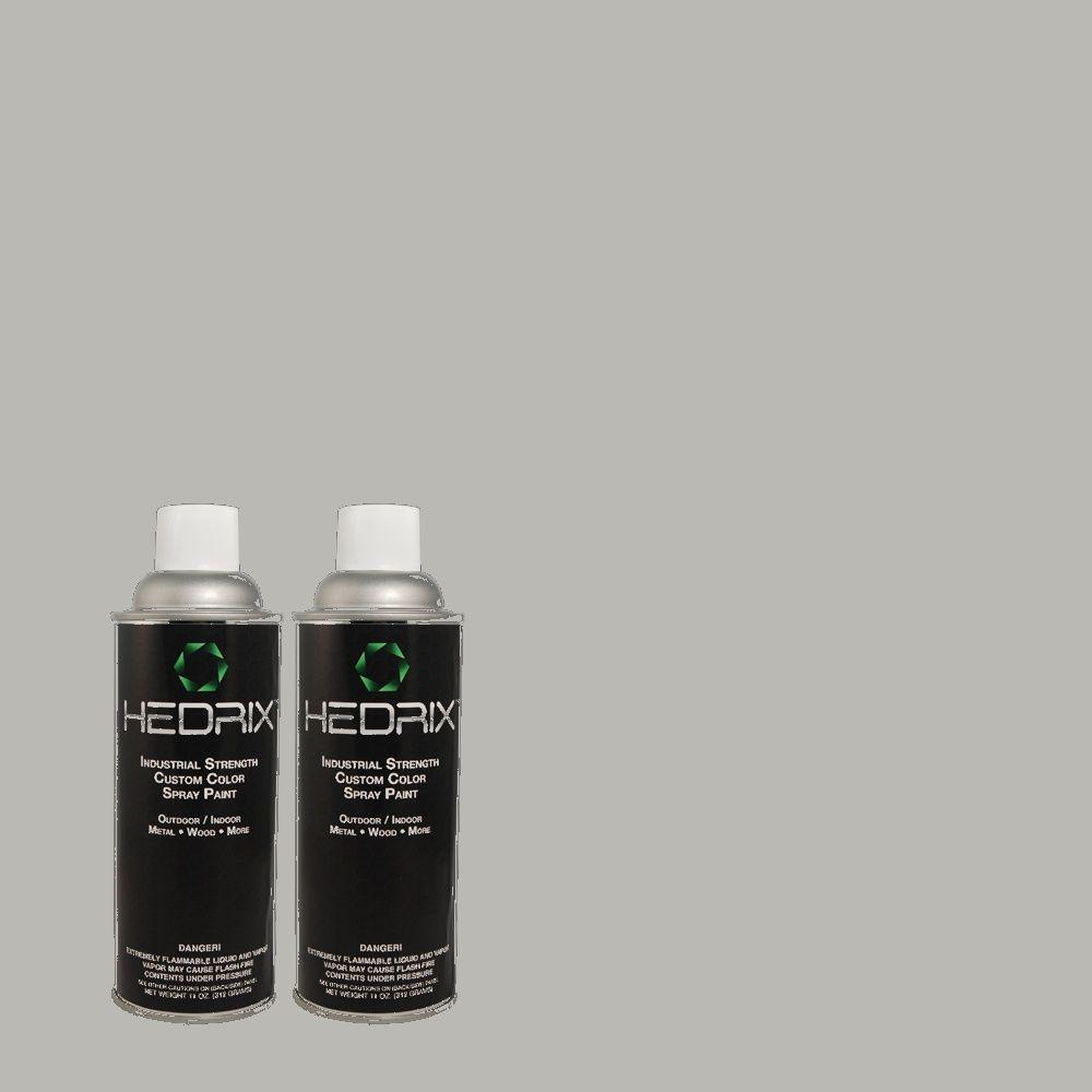 Hedrix 11 oz. Match of BHG-77 Tin Flat Custom Spray Paint (2-Pack)