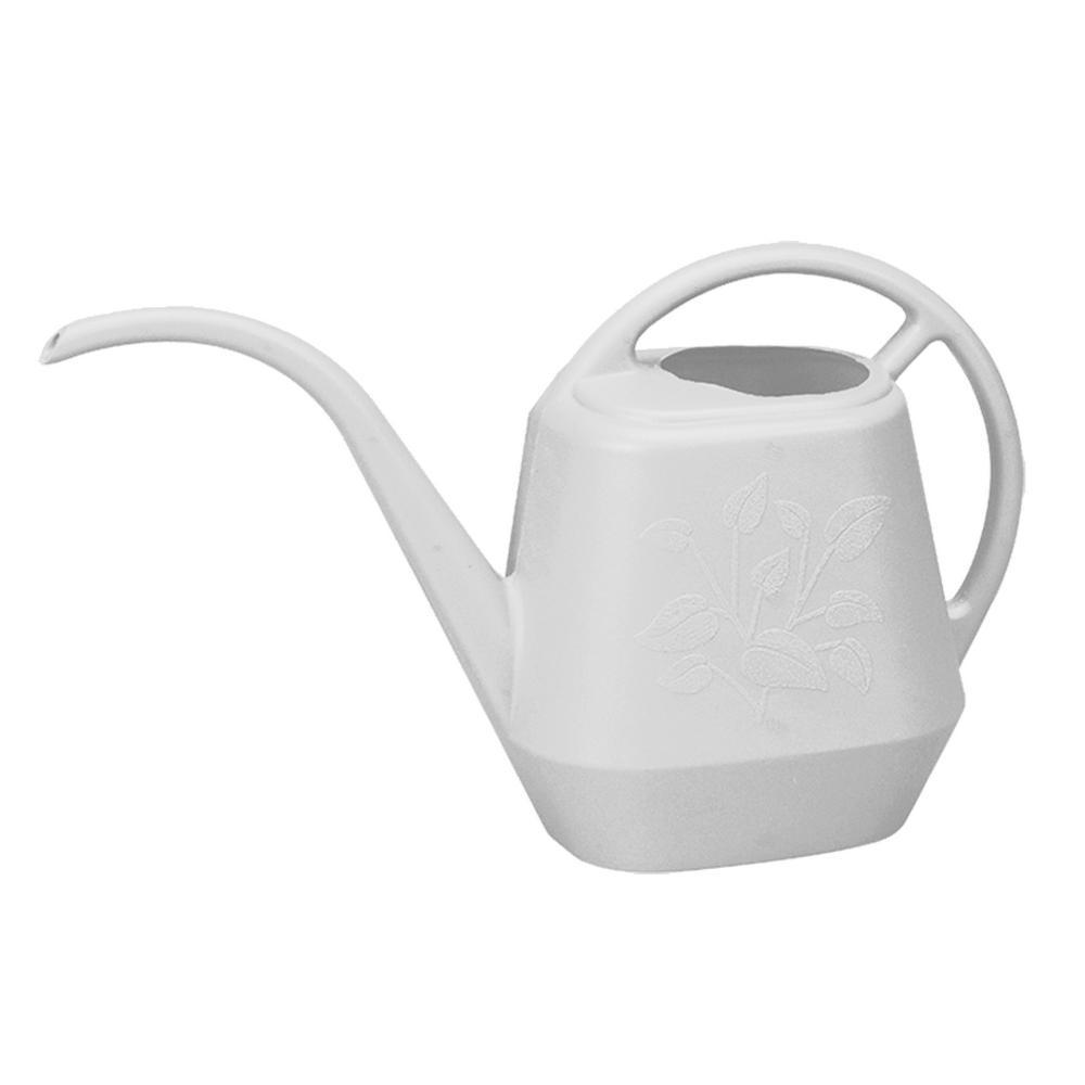 Aqua Rite 1.2 Gal. Casper White Plastic Watering Can