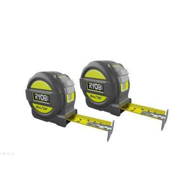 8m/26 ft. Tape Measure with Metric and English Scale (2-Pack)