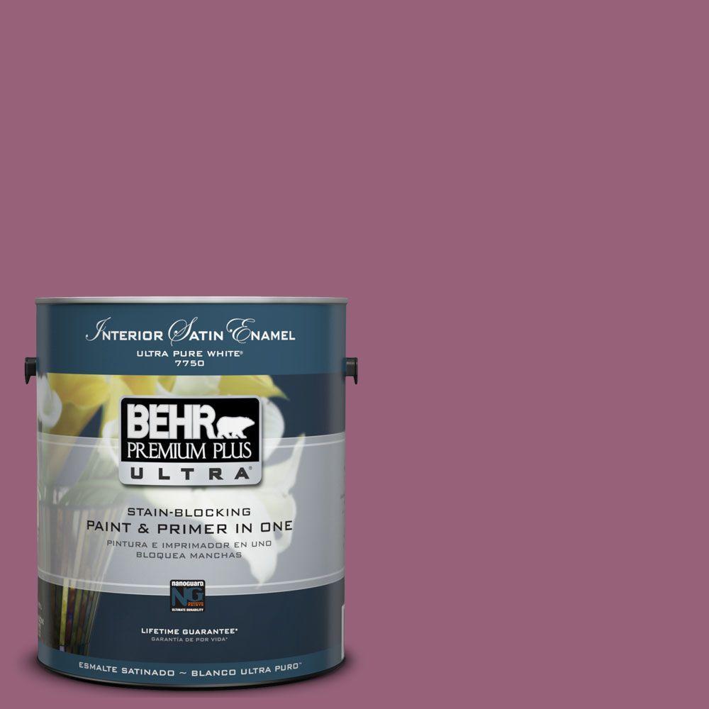 BEHR Premium Plus Ultra 1-Gal. #UL100-17 Forest Berry Interior Satin Enamel Paint