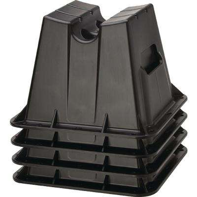 Block Pontoon Storage, Black (Set of 4)