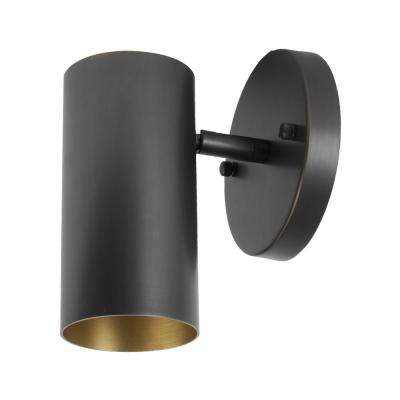 LEDPAX Wall Sconce With Adjustable Arm, Black and Brass Wall Mounted Light