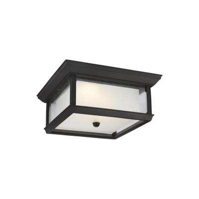 McHenry Textured Black Integrated LED Outdoor Flush Mount