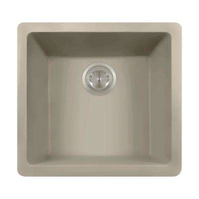 Dualmount Composite 18 in. Single Bowl Kitchen Sink in Slate
