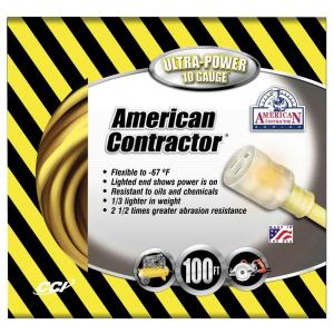 American Contractor 100 ft. 10/3 SJEO Outdoor Heavy-Duty T-Prene Extension Cord... by American Contractor