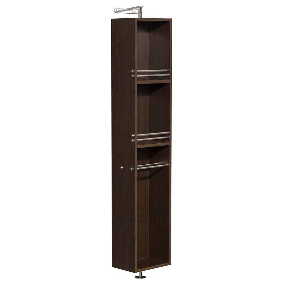 Wyndham Collection Amare 13-3/4 in. W x 73 in. H x 15 in. D Bathroom Linen Storage Cabinet in Espresso