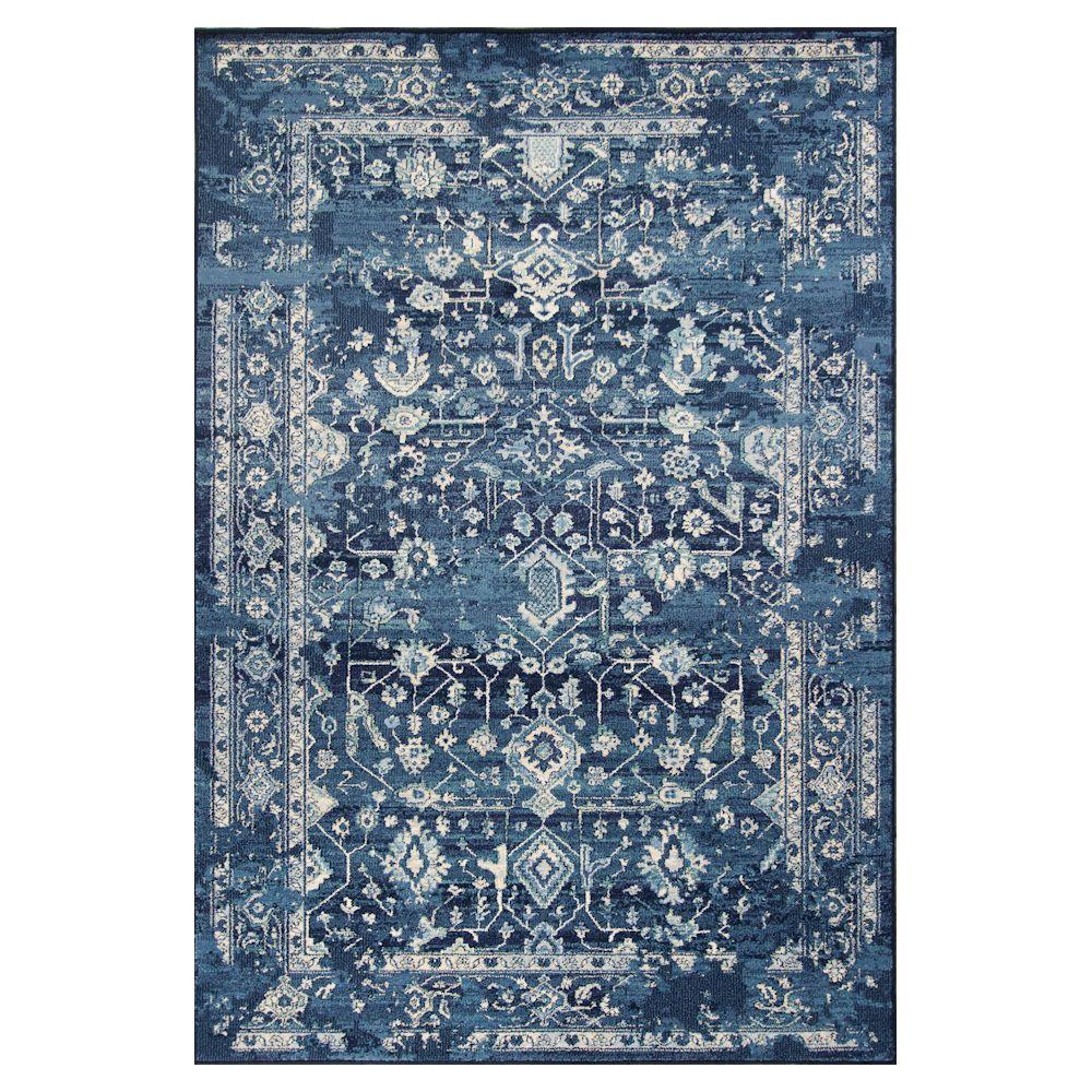 Kas Rugs Bob Mackie Vintage Azure Blue Marrakesh 3 Ft 3