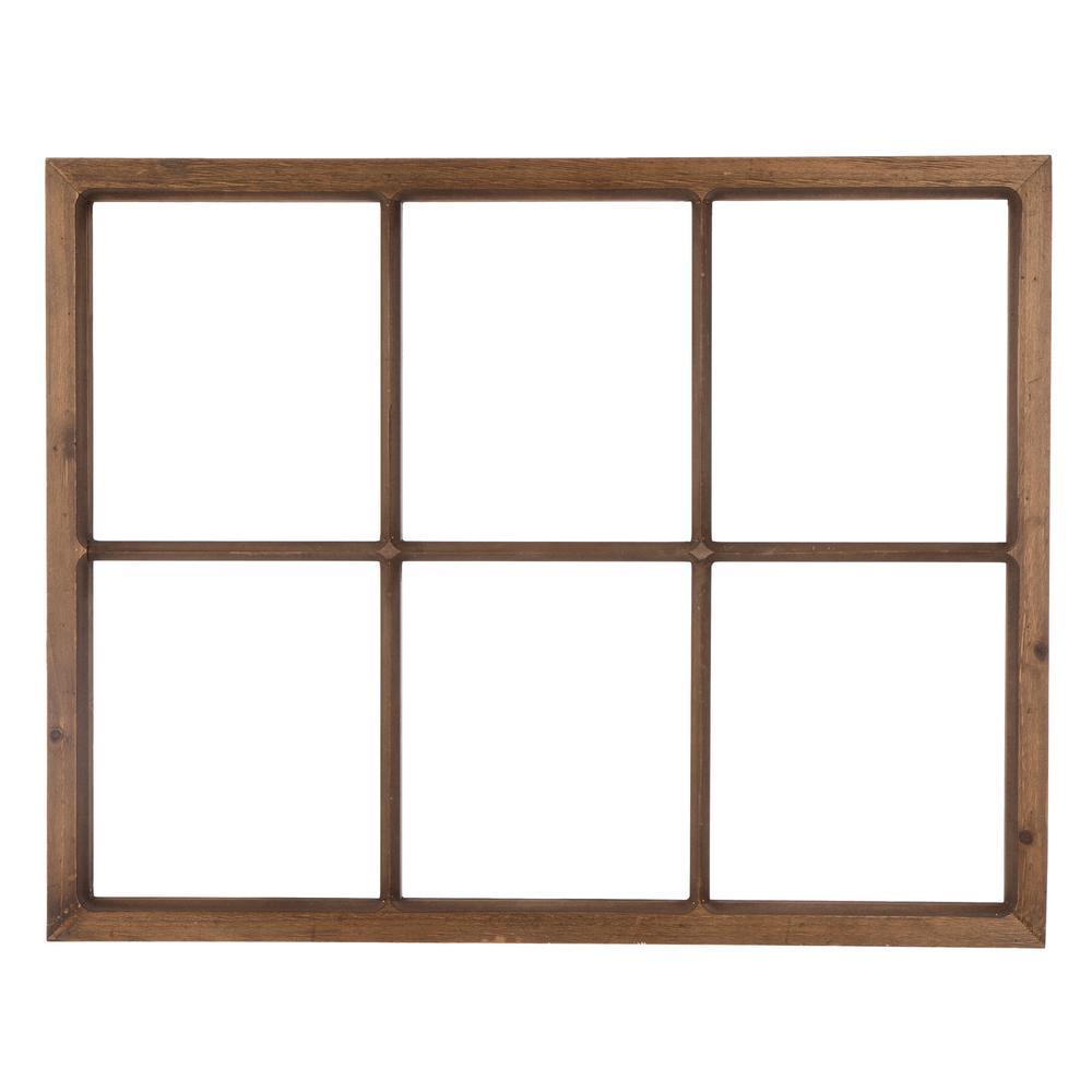 28 in. L x 22 in. H Wooden Window Frame