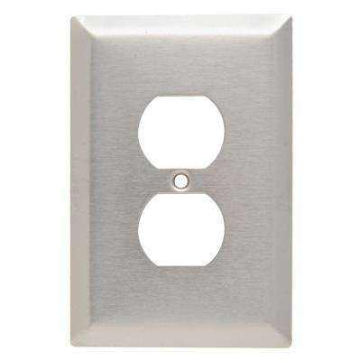 302 Series 1-Gang Duplex Jumbo Wall Plate in Stainless Steel