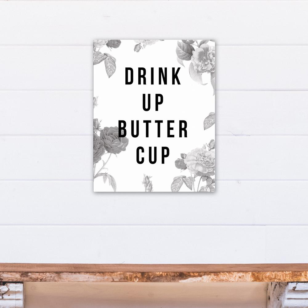 Designs direct 16 in x 20 in drink up buttercup for Direct from the designers