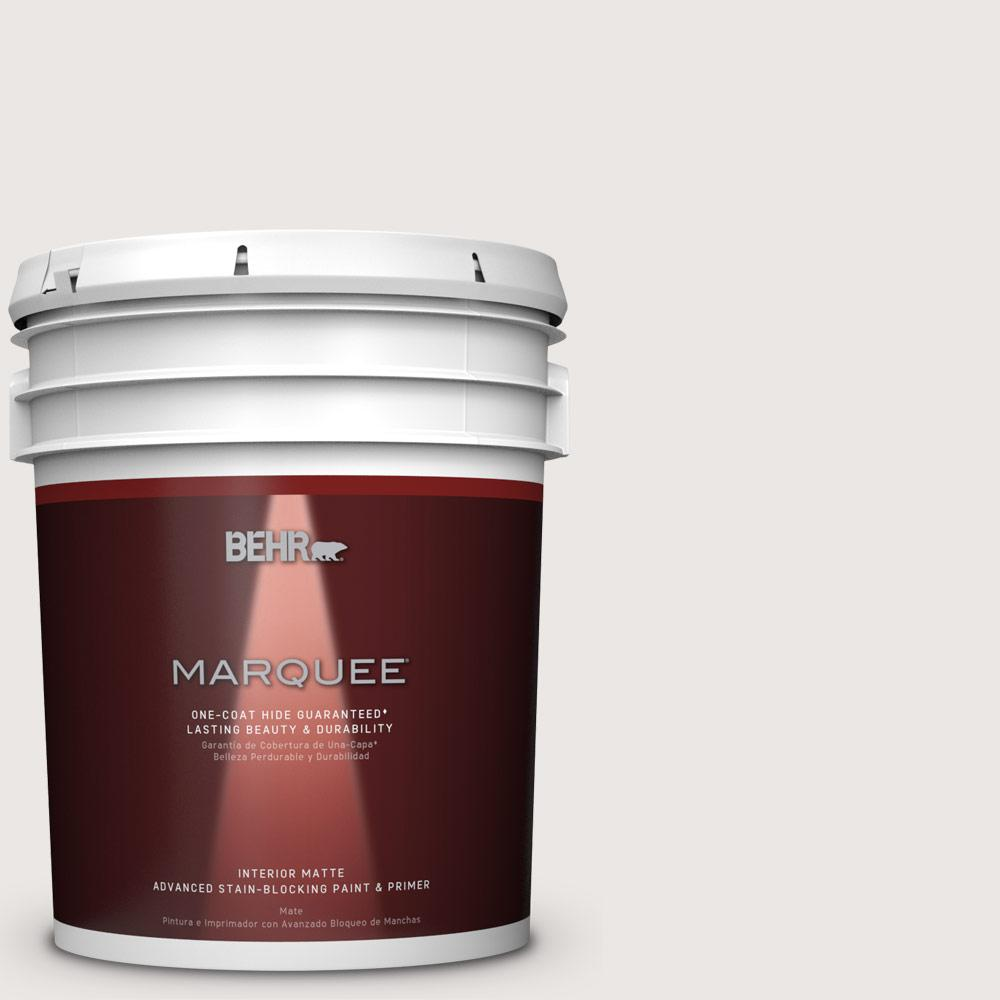 5 gal. #MQ3-32 Cameo White Matte One-Coat Hide Interior Paint and