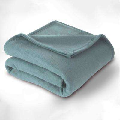 Supersoft Fleece Dusty Blue Polyester King Blanket