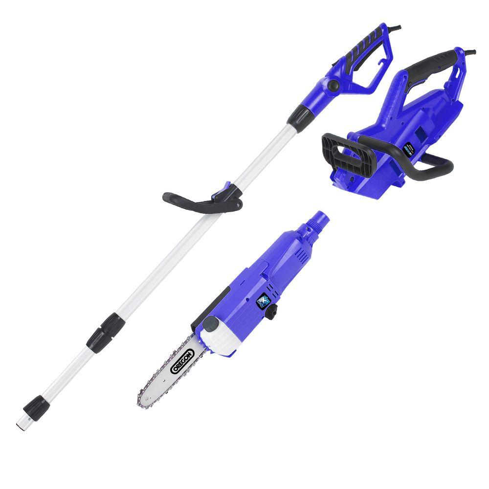 electric chainsaw with telescoping pole