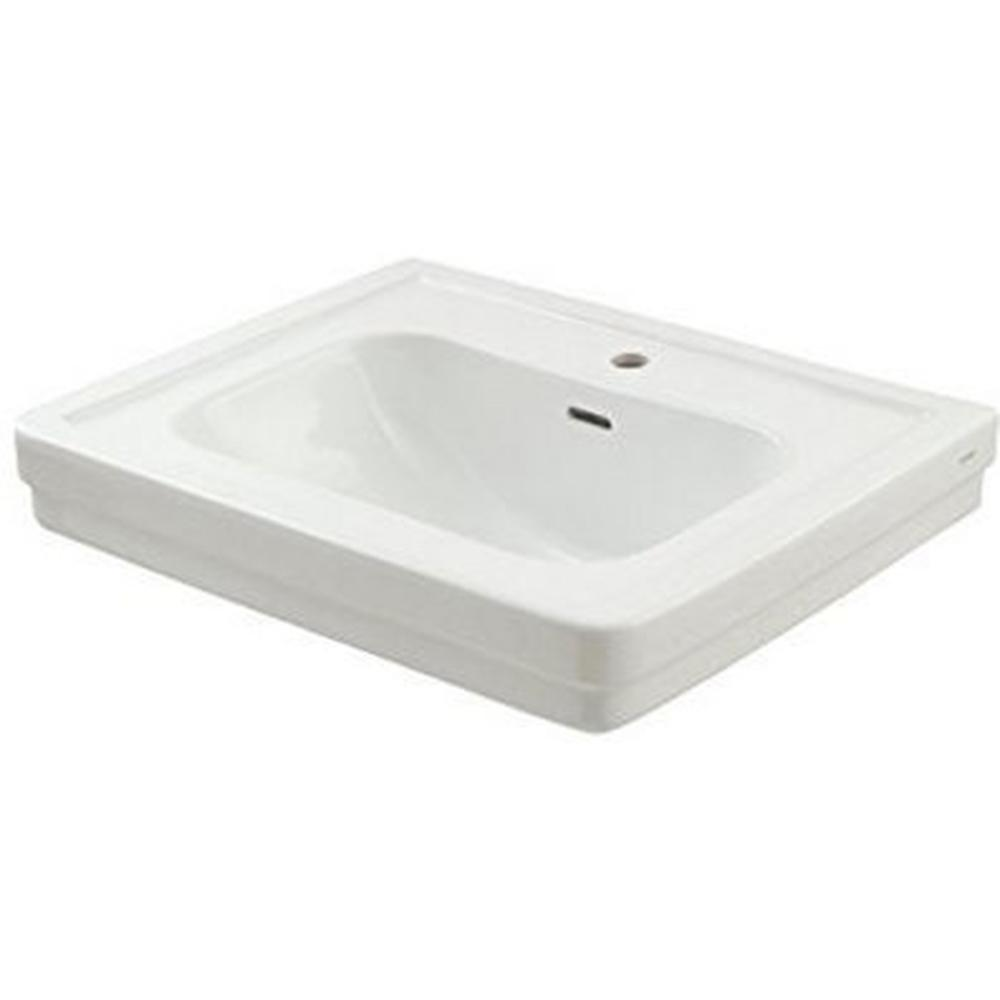 TOTO Promenade 24 in. Pedestal Sink Basin with Single Faucet Hole in ...