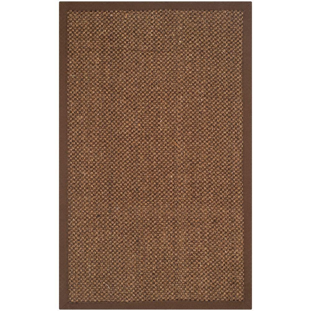 Natural Fiber Brown 3 ft. x 5 ft. Area Rug