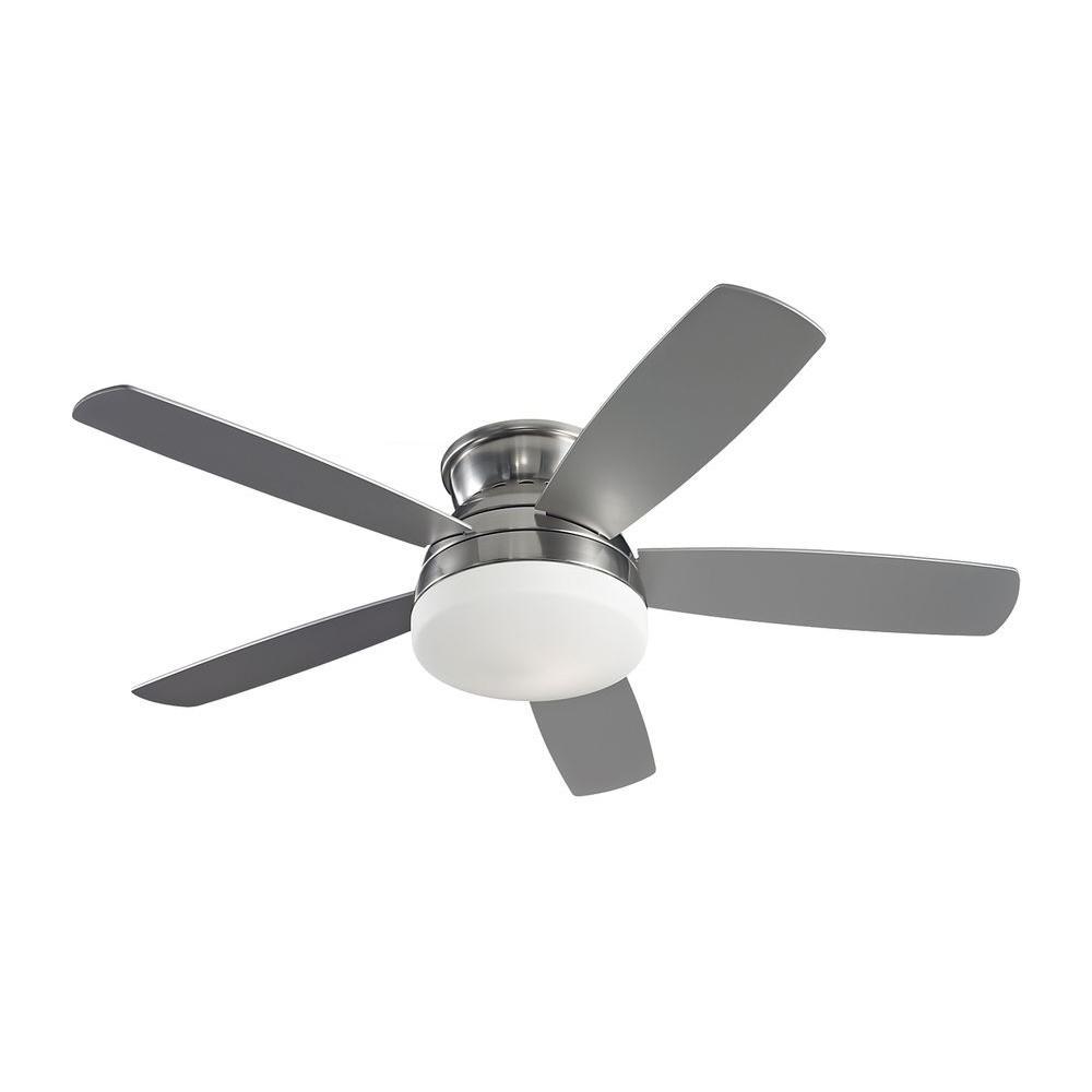 Traverse 52 in. Brushed Steel Silver Ceiling Fan