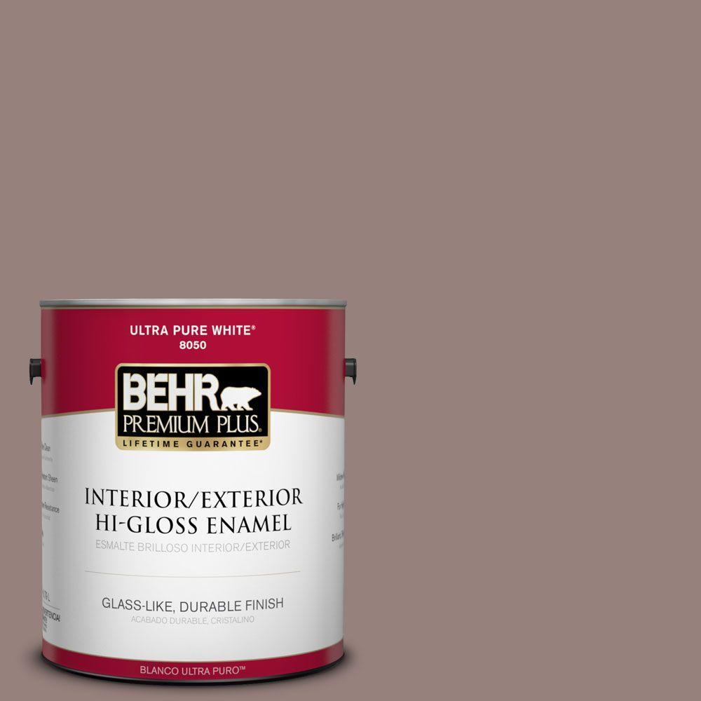 BEHR Premium Plus 1-gal. #N130-5 Mystere Hi-Gloss Enamel Interior/Exterior Paint