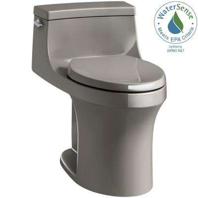 San Souci 1-piece 1.28 GPF Single Flush Elongated Toilet in Cashmere