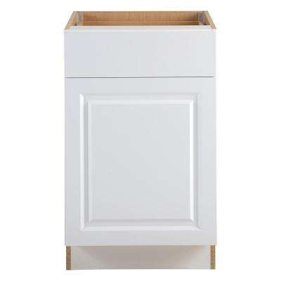 Benton Assembled 21x34.5x24 in. Base Cabinet with Soft Close Full Extension Drawer in White