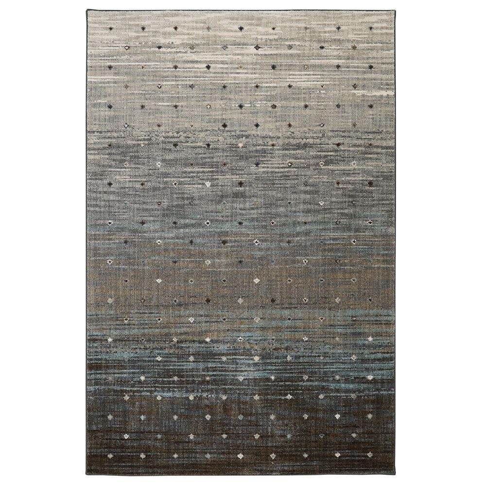 Allegro Gray 8 ft. x 11 ft. Indoor Area Rug