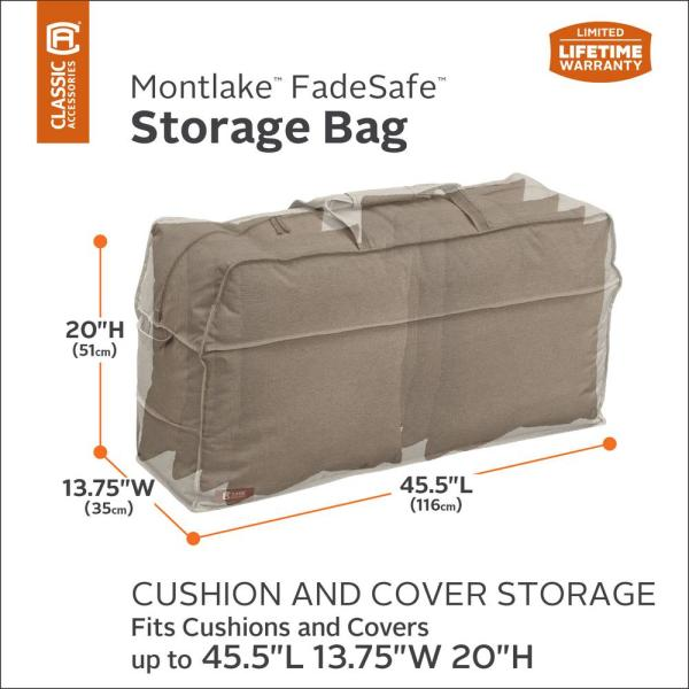 Standard Classic Accessories Veranda Patio Cushion Cover Storage Bag Patio Lawn Garden Cushions