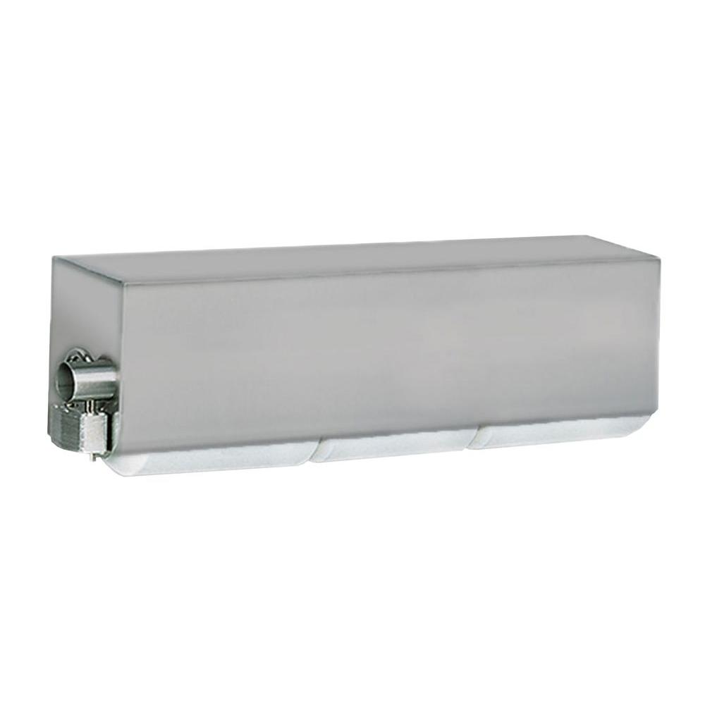 Stainless Solutions Double Post Covered Toilet Paper Holder in Steel with