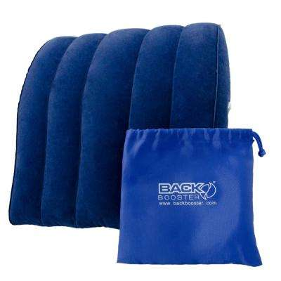 13 in. x 11-3/4 in. x 3-1/2 in. Inflatable Back Support in Blue