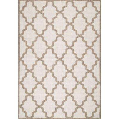 Gina Moroccan Trellis Tawny 5 ft. x 8 ft. Outdoor Area Rug