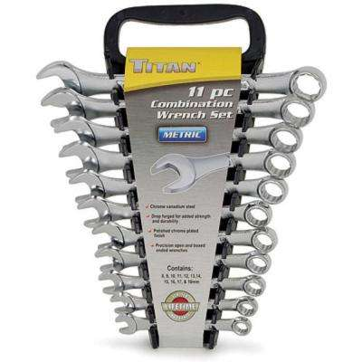 11-Piece Metric Combo Wrench Set