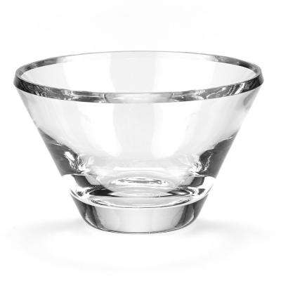 Beveled Large Trillion Clear European Mouth Blown Crystal Radiant Decorative Bowl