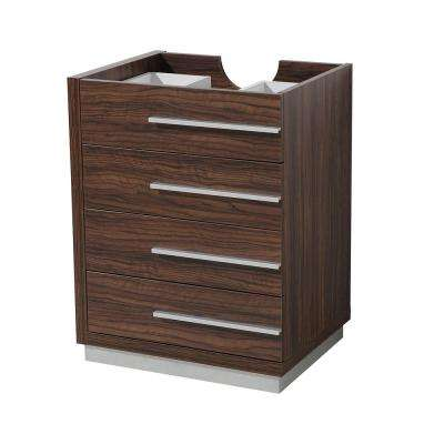 Livello 24 in. Bathroom Vanity Cabinet Only in Walnut