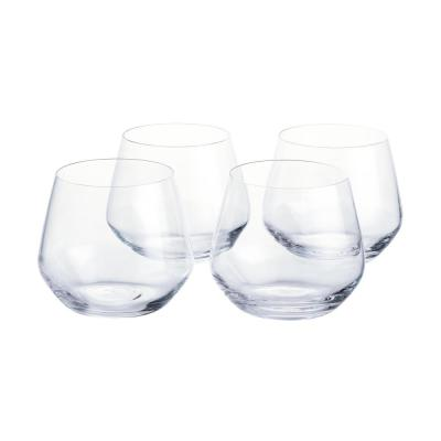 Genoa 18.5 oz. Lead-Free Crystal Stemless Wine Glasses (Set of 4)