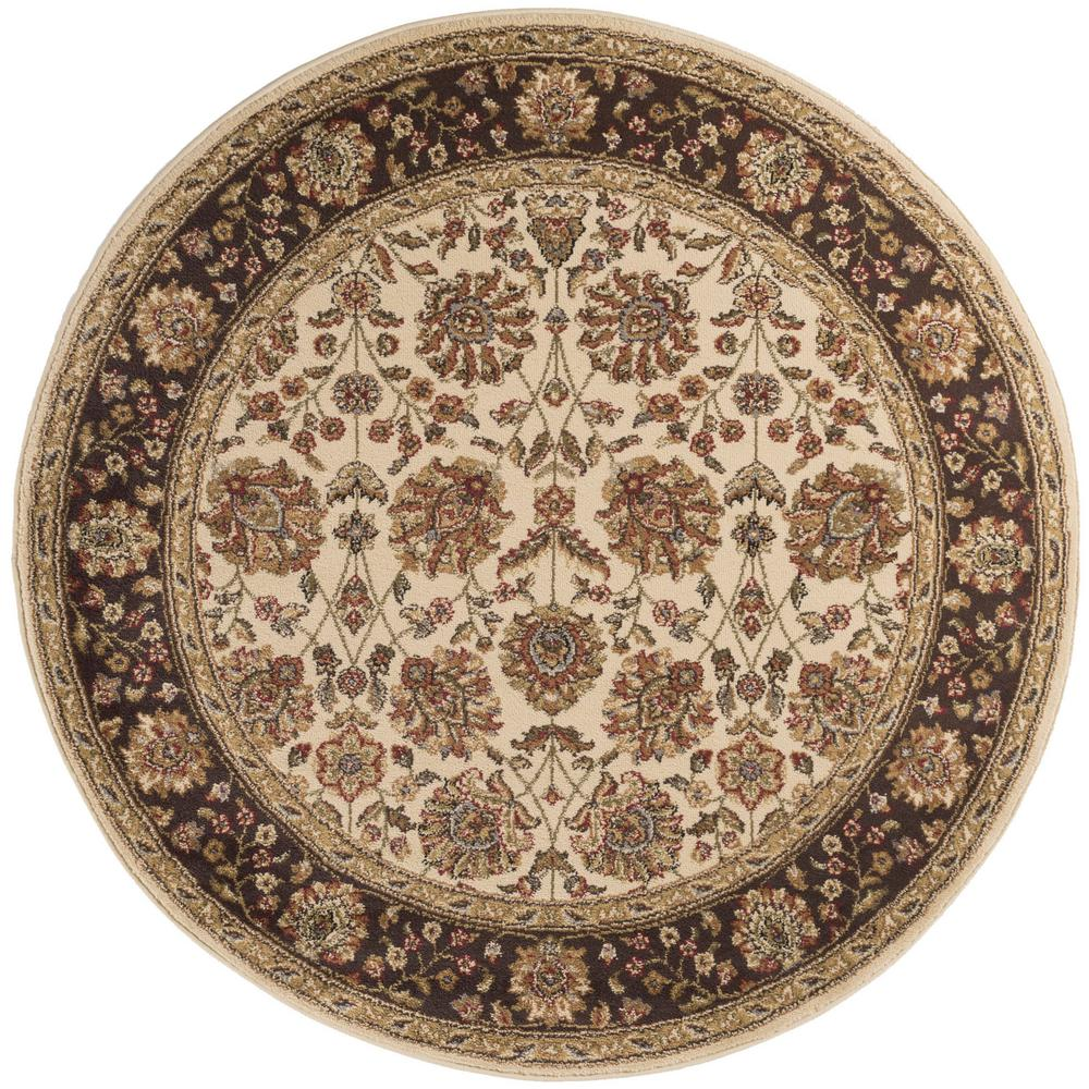 tayse rugs elegance beige 7 ft 10 in x 7 ft 10 in round indoor area rug 5332 ivory 8 39 round. Black Bedroom Furniture Sets. Home Design Ideas
