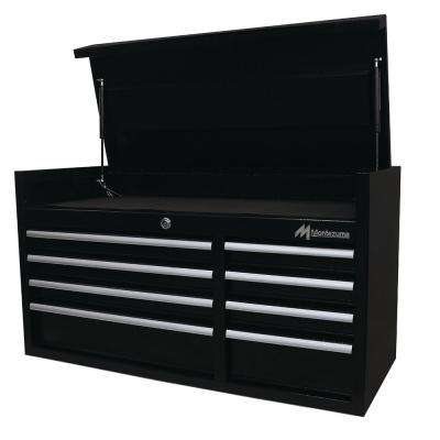 41 in. 8-Drawer Top Chest in Black Powder Coated