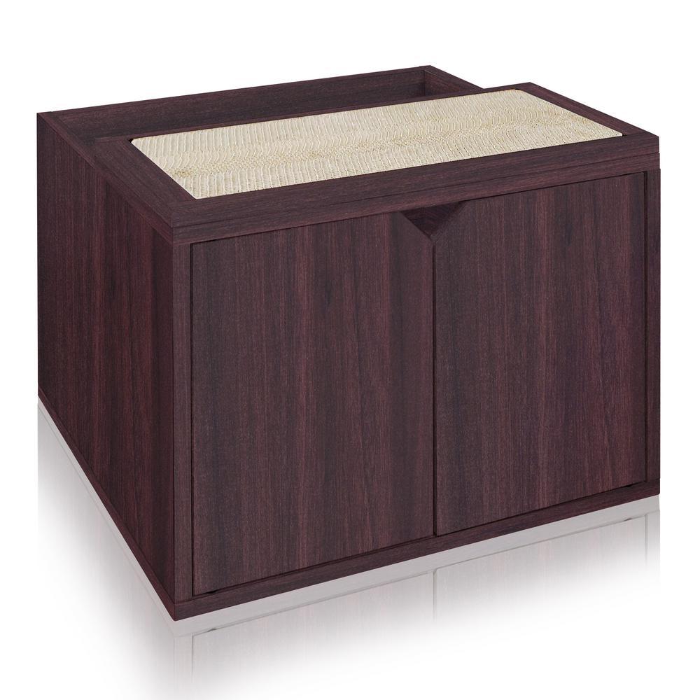Modern Litter Box: Way Basics Eco Board Espresso Modern Cat Litter Box