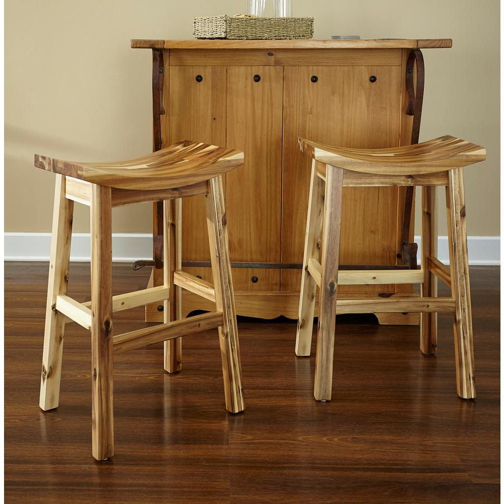 30 in. Dale Saddle Light Natural Bar Stool