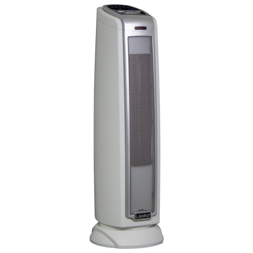 Lasko 1500-Watt Ceramic Tower Electric Space Heater in Gray   5775