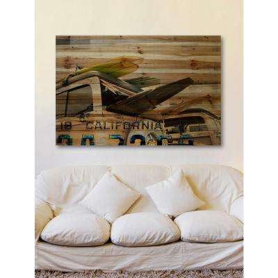 "40 in. H x 60 in. W ""Cali Day"" by Parvez Taj Printed Natural Pine Wood Wall Art"