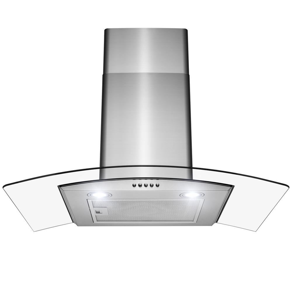 Golden Vantage 30 In 228 5 Cfm Wall Mount With Leds Stainless Steel