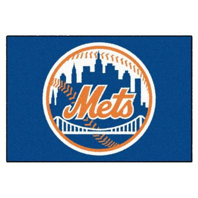 MLB New York Mets 1 ft. 7 in. x 2 ft. 6in. Starter Mat Area Rug