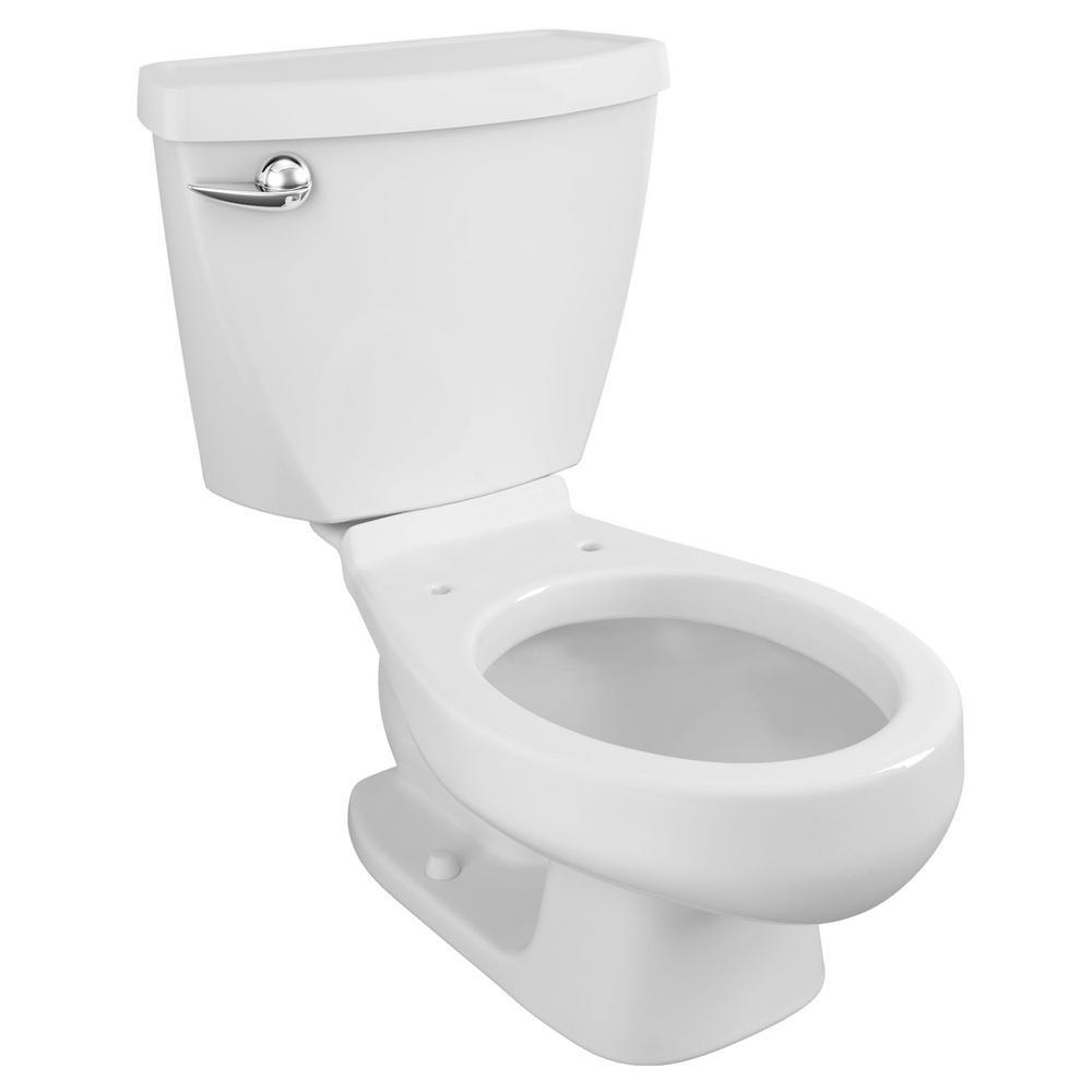 Baby Devoro FloWise 10 in. Rough-In 2-piece 1.28 GPF Single Flush Round Toilet in White