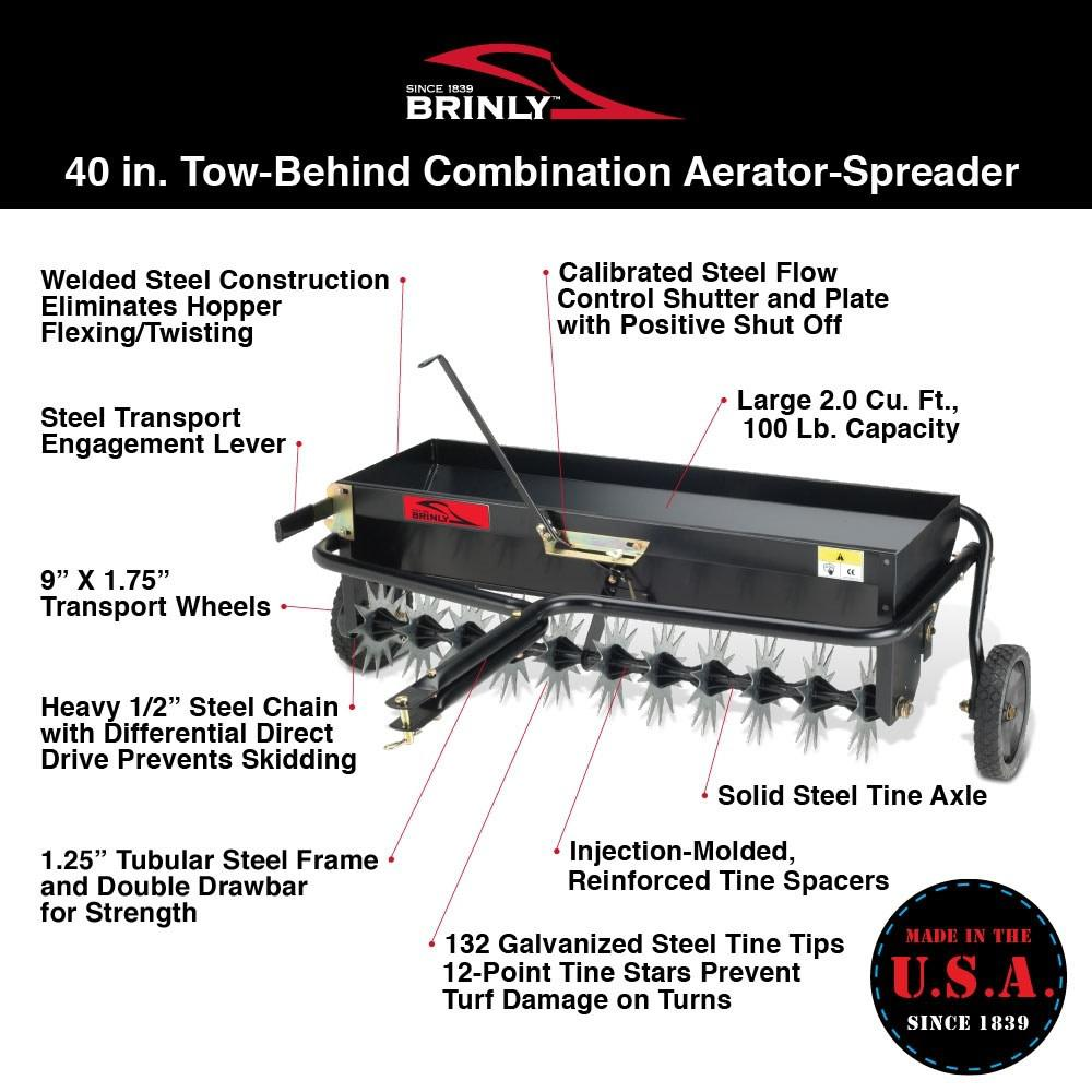Tow Behind Combination Aerator Spreader