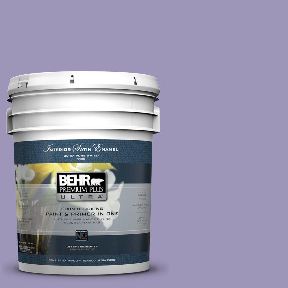 BEHR Premium Plus Ultra 5-gal. #640D-5 June Berry Satin Enamel Interior Paint